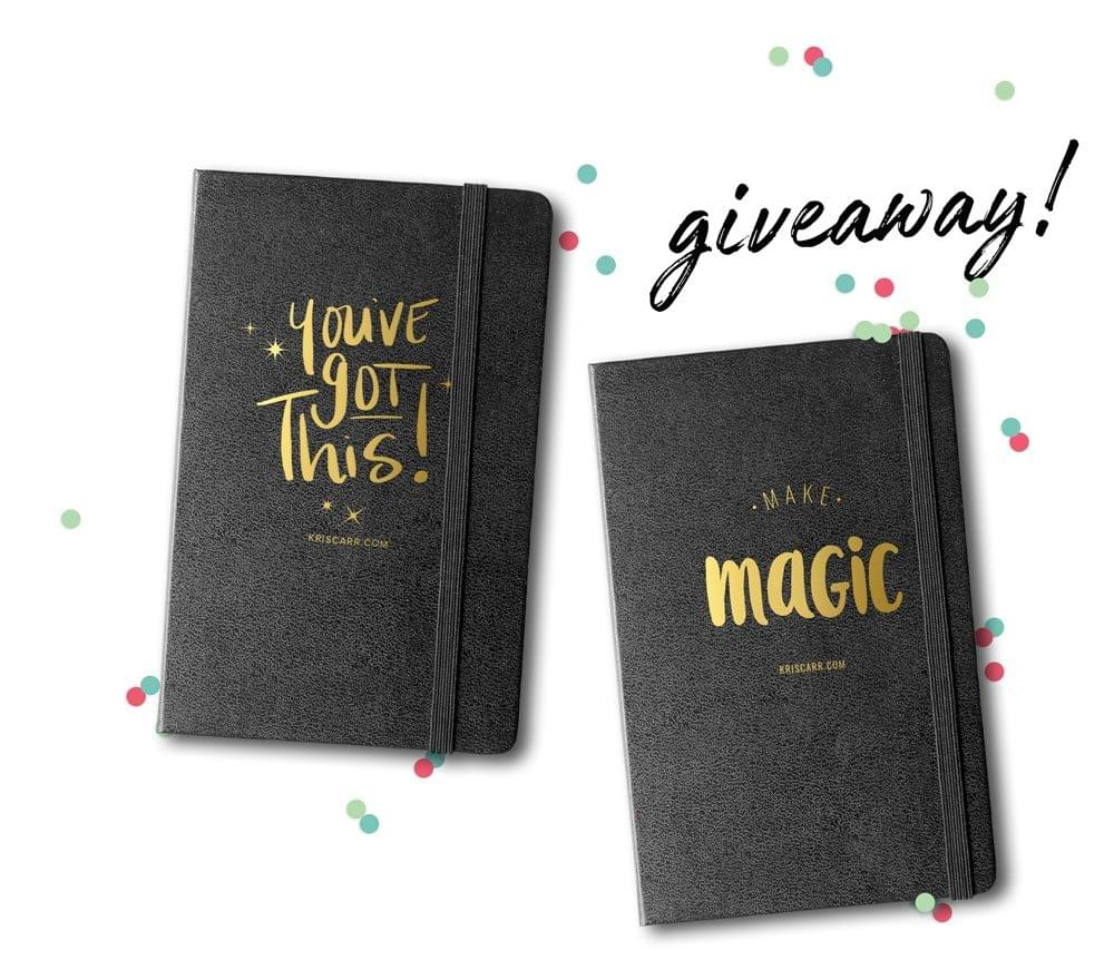 kris carr journal giveaway